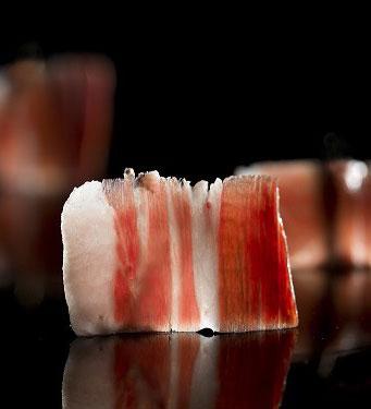 Acorn-fed Iberian ham  Vintage 2016 sliced